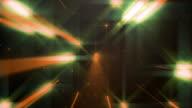 4k Orange Dance of Lights Animation Background Concert Seamless Loop. video