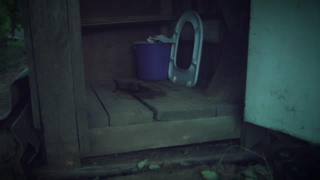 4k Outdoor Dirty Toilet in Village video
