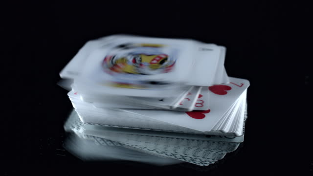 4k Poker Composition Cards Falling video