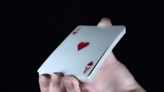 4k Poker Composition Cards Flying video