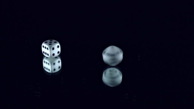 4k Poker Composition Dice Spinning video