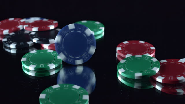 4k Poker Composition of Chips Spinning video