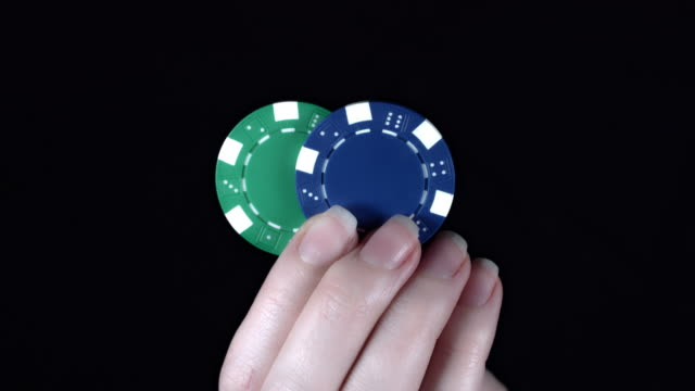 4k Poker Composition Two Chips in Hand video