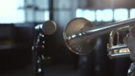 4k resolution Close up Trumpet player video