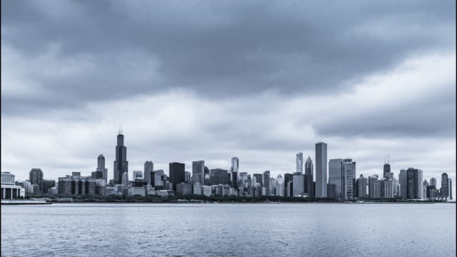 4k resolution Time Lapse Cool tone of Chicago skyline video