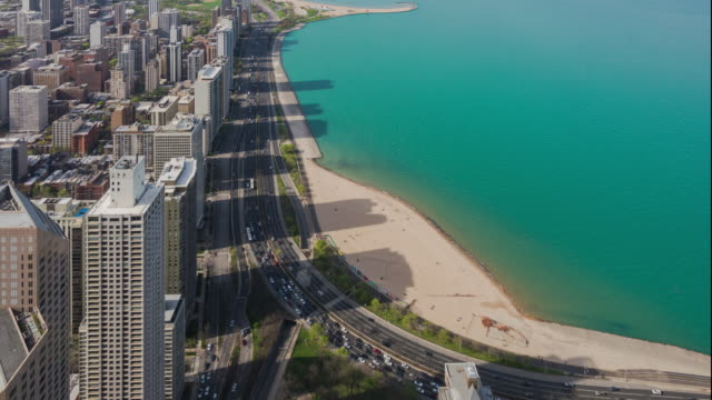 4k resolution Time Lapse of Chicago city with traffic road video