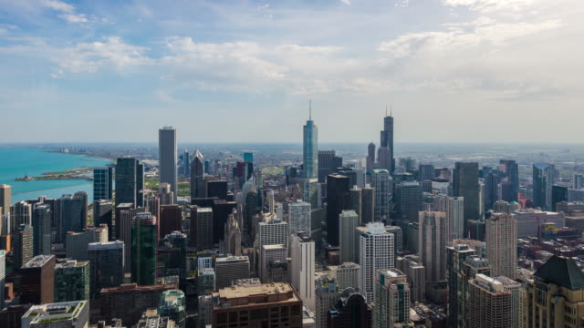 4k resolution Time Lapse of Chicago cityscape video