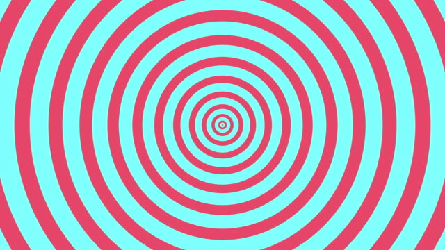 4k Seamless Looping hypnosis spiral Background with Pastel Color Style. video