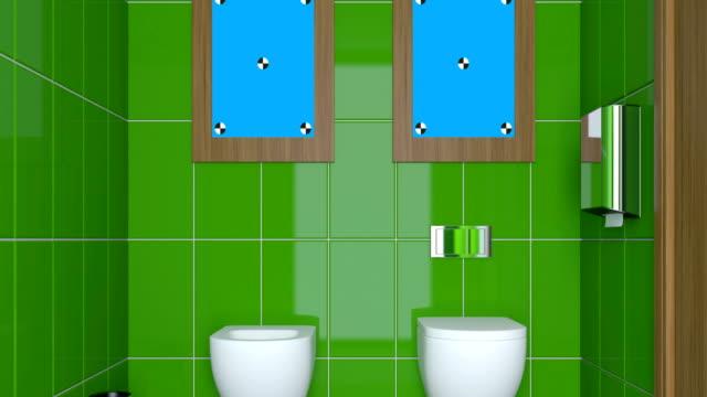 4k. Small, modern bathroom interior video