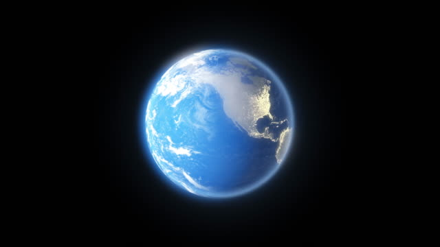 4k Spinning Earth On Black Background Animation Seamless Loop video