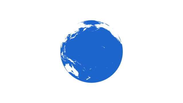 4k Spinning Earth on White Background Animation Seamless Loop. Simple Style video