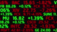 4k Stock Market Board Ticker Moving Animation Seamless Loop. video
