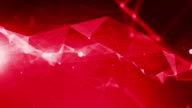 4k Technology Abstract Animation Background Seamless Loop. Red Color video
