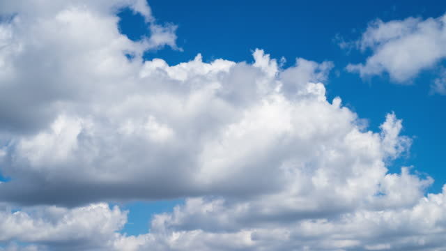4k Time Lapse: Cumulus Clouds video