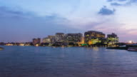 4k Time Lapse major government hospital in Bangkok, Thailand situated by the Chao Praya River video
