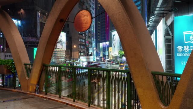 4k time lapse of busy traffic ave hong kong china video