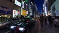 4k Time lapse of crowded shopping at Ginza Road ,tokyo Japan video