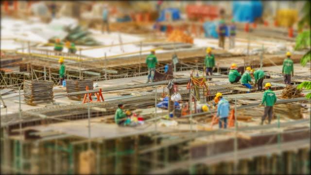 4k Time Lapse  (4096x2160) :The construction site (Apple ProRes 422 (HQ) format). video