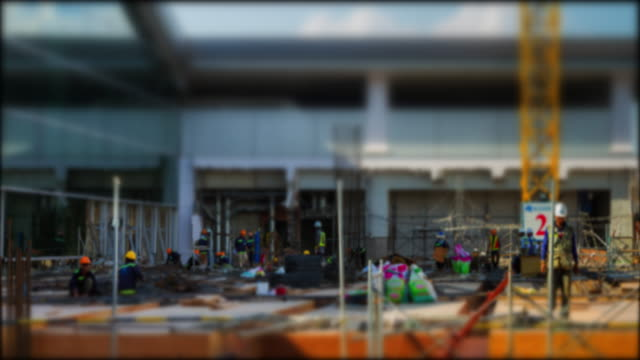 4k Time Lapse (4096x2160) :The construction site zoomin (Apple ProRes 422 (HQ) format). video
