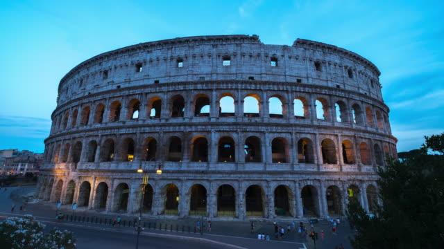 4k Timelapes : Colosseum at dusk, Rome, Italy video