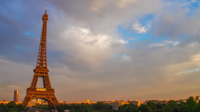 4k Time-lapse : Eiffel tower in Paris, France video