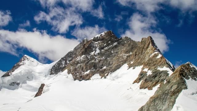 4k Time-lapse : Jungfrau mountain peak video