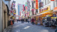 4k time-lapse of ameyoko is a busy market street along the Yamanote near Ueno Stations video