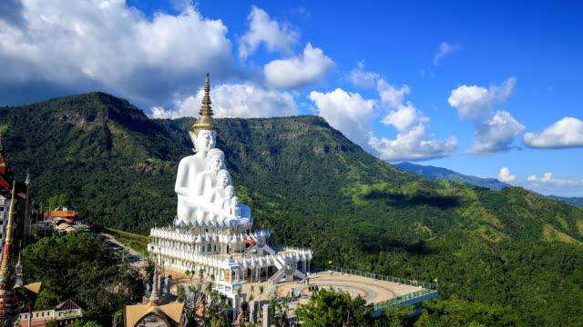 4k Time-lapse of Five Buddhas at Wat Phra Thad Pha Son Kaew Temple, Phetchabun, Thailand video