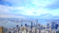 4k Time-lapse of Hong Kong city, view from The Peak video