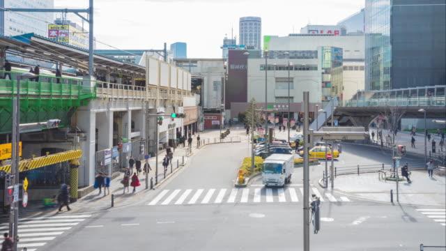 4k time-lapse: Passengers hurry at Akihabara crowd station in Tokyo, Japan. video