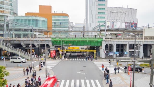 4k time-lapse: Passengers hurry at Akihabara crowd station in Tokyo, Japan video