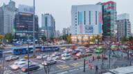 4k time-lapse Twilight Seoul City video