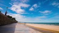 4k, Time-Lapse View of Hua Hin Beach / Pranburi, Thailand video