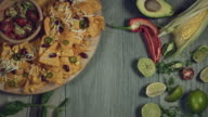 4k Traditional Mexican Food and Beer, Putting Bottle video
