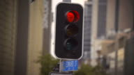 4k Traffic Signal Go.  (Changes from red to green) video