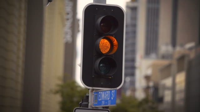 4k Traffic Signal Stop - Green, Amber, Red. video