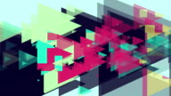4k Triangles Abstract Background Animation Seamless Loop. video