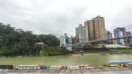TL 4k : Xin Dian river Taipei, Taiwan video