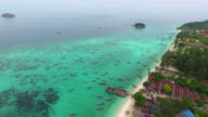 4k.Aerial view of Lipe Island. video