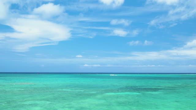 4K,Blue sky and green ocean.Okinawa,Japan video
