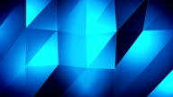 4K-Blue Triangle waves Background video