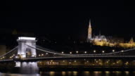 4K:Budapest Hungary Chain Bridge with fishermans bastion video