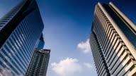 4K:Building time-lapse business center video
