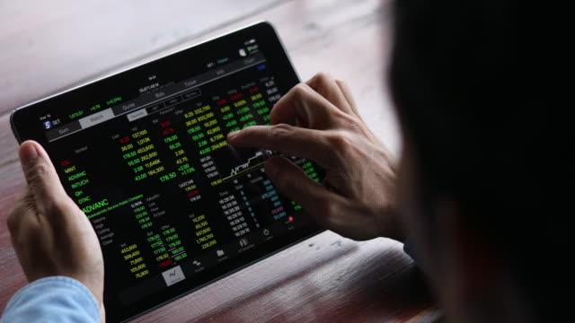 4K:business man checking stock video