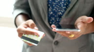 4K:Businessman shopping online by Credit card video