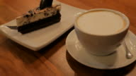 4K:Cake and coffee ready for relax time video