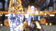 4K:Christmas lights circle bokeh in festival video