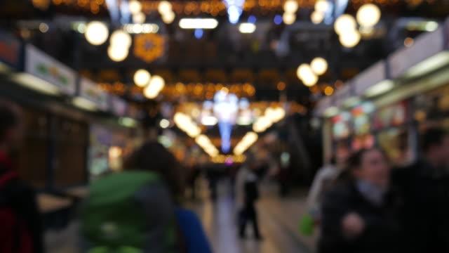 4K:Christmas walking street video