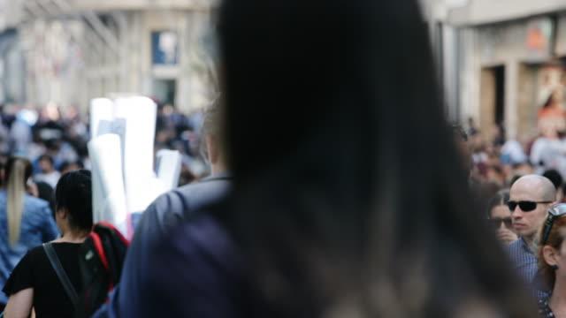 4K:Crowd of People Walking in the Istiklal Avenue video
