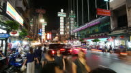 4K:Crowded in Night market,Chinatown video